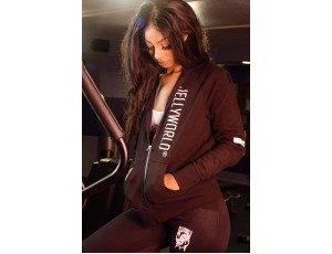 JW Ladies black jogger set